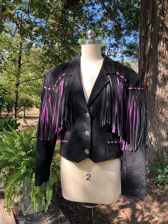PIONEER WEAR Suede Jacket/Pioneer Wear Fringe Jack