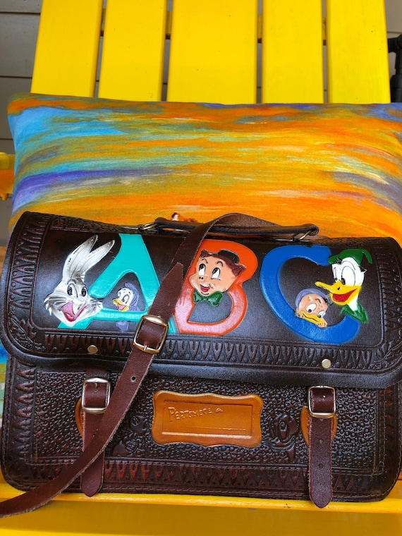 RARE Looney Tunes Shoulder Bags/Hand Tooled Should