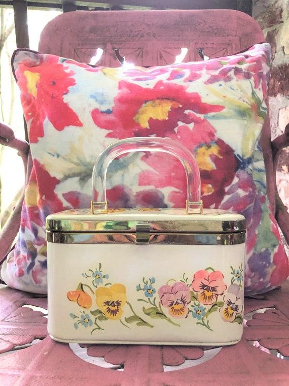PANSY Box Handbag/Box Purses/Box Handbags/Floral P