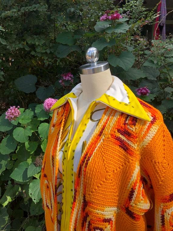 HANDMADE GRANNY Squares Sweater Jacket/Granny Squa