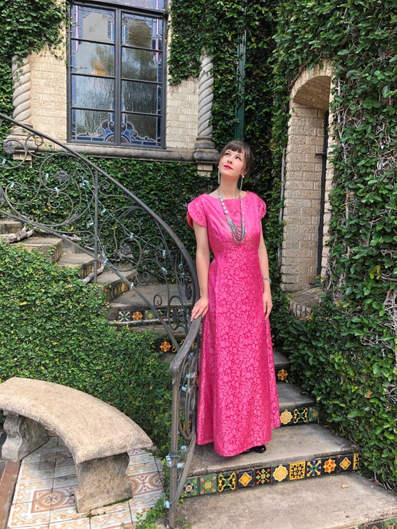 40's FUSHIA FORMAL Ball Gowns/Margaret's Portland