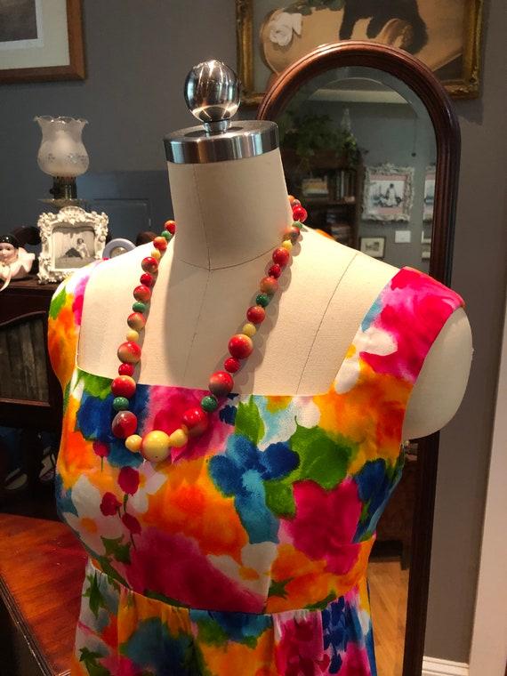 60's GORGEOUS Handmade MINI/60's Spring Flowers D… - image 5
