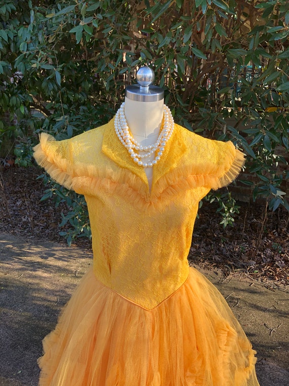 50's PROM GOWNS/50's Prom Dress/50's Tulle Prom/Tu