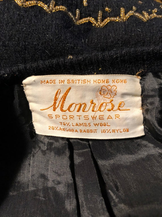50's Vintage Sweater/50's Vintage Cardigan/50's S… - image 9