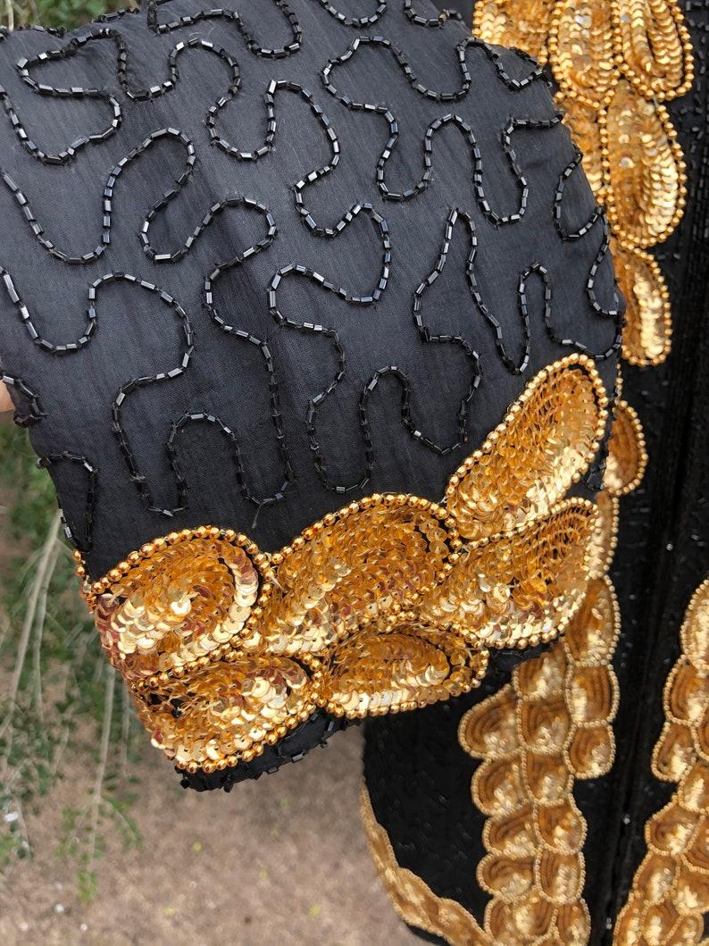Hi/'s Sequin Jacket MINT Condition PLUS SIZE Sequin JacketsBeaded Jackets80/'s Beaded Jackets80/'s Sequin JacketsVintage Sequin JacketMr