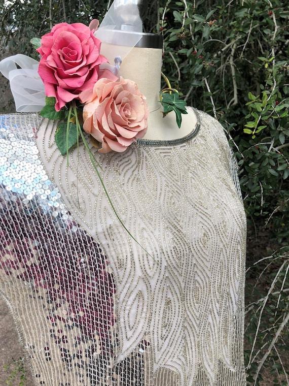 VINTAGE 80/'S Desert Flower Sequin Tee