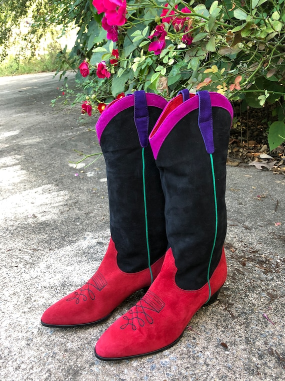 Womens Boots/Suede Boots/Womens Western Boots/80'… - image 10