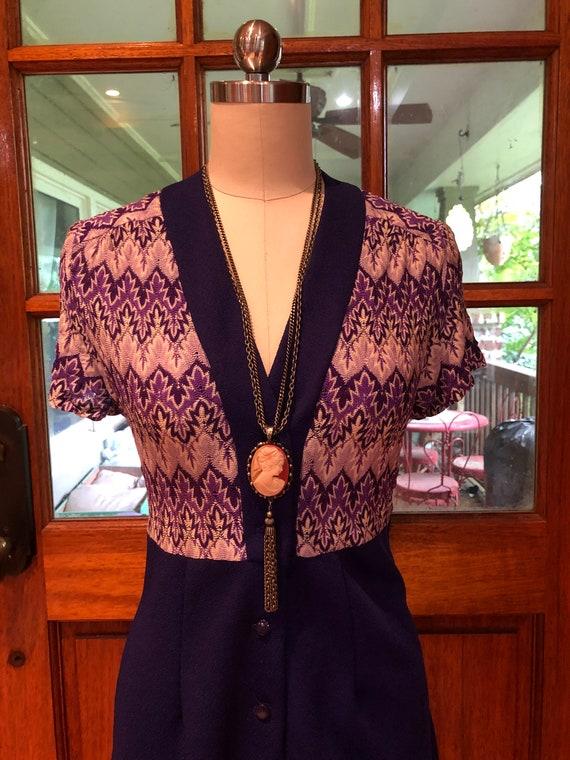 70's PURPLE SHIRTDRESS/70's Dresses/Vintage Dress… - image 5