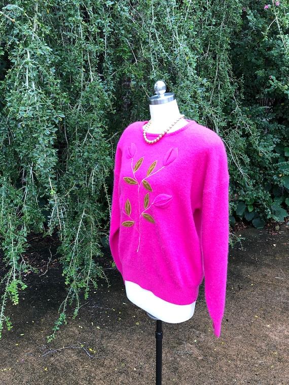 LILY of California Sweater/80's Sweaters/Fushia Sw