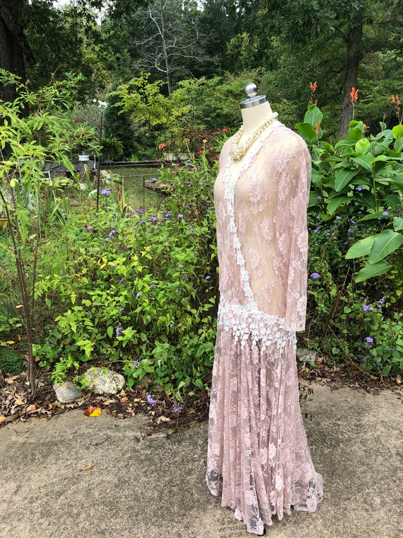 JESSICA MCCLINTOCK Pink Lace Dress/Jessica Mcclin… - image 10