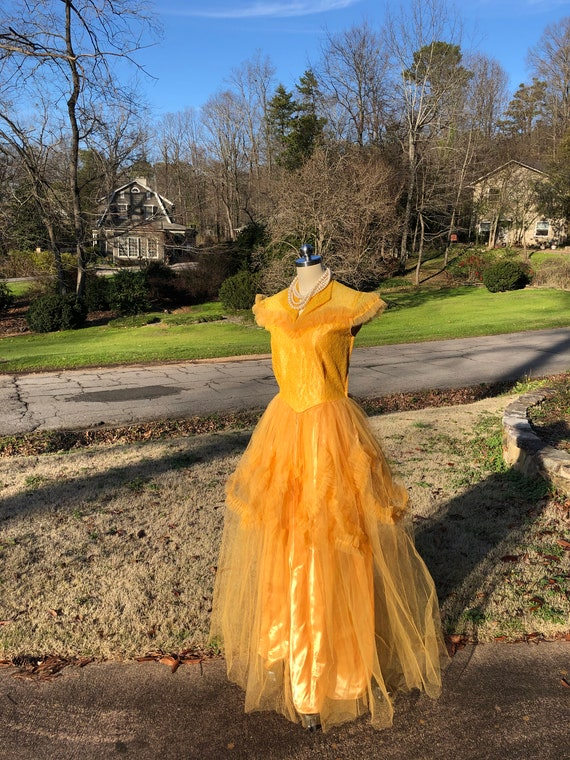 50's PROM GOWNS/50's Prom Dress/50's Tulle Prom/T… - image 2