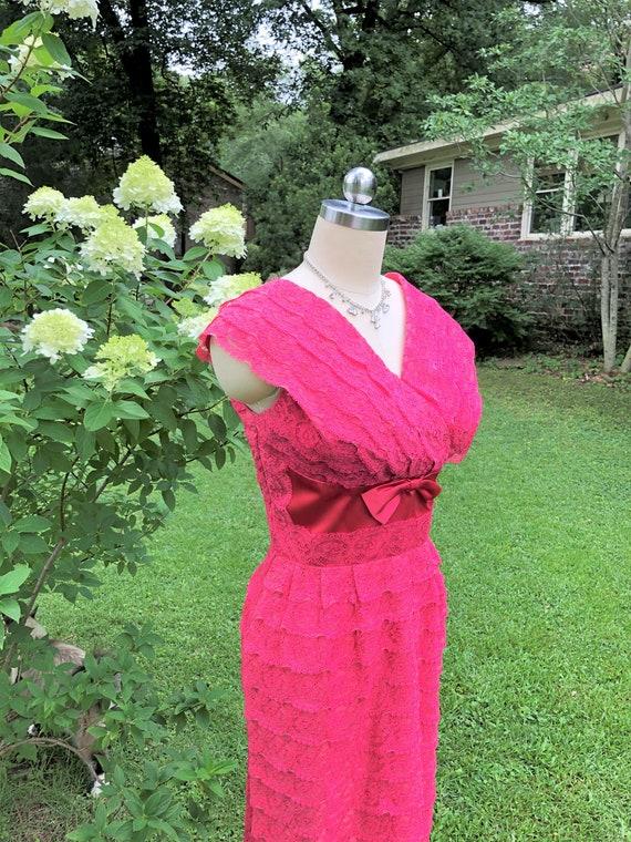 50's DuBarry Cocktail Dress/DuBarry Dresses/50's L