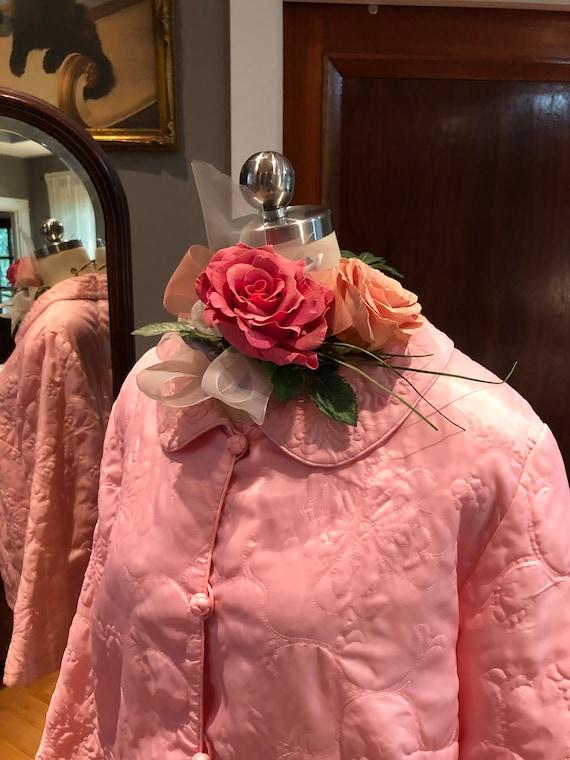 Lovely Pink BED JACKET/80's Pink Bed Jacket/Vintag