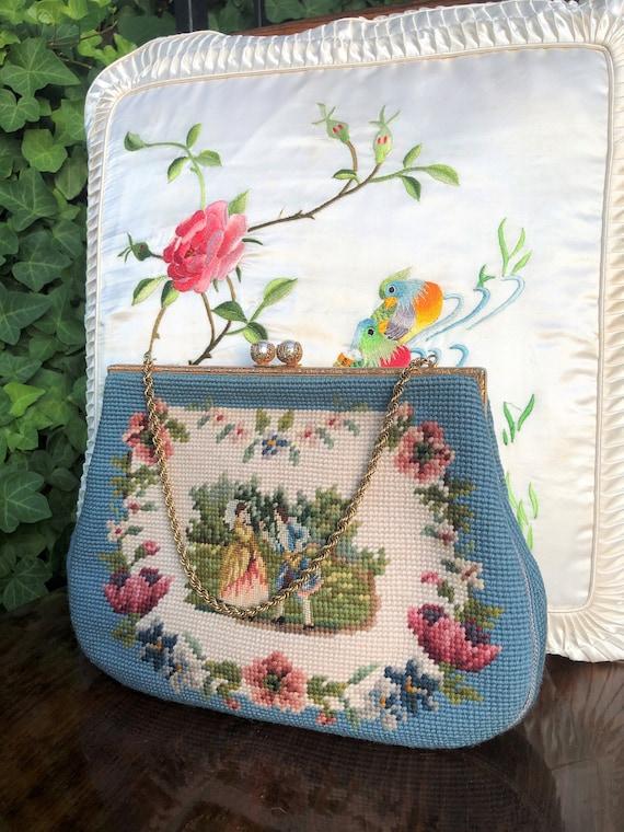60's Needlepoint Handbags/Christine Purses/60's Ne