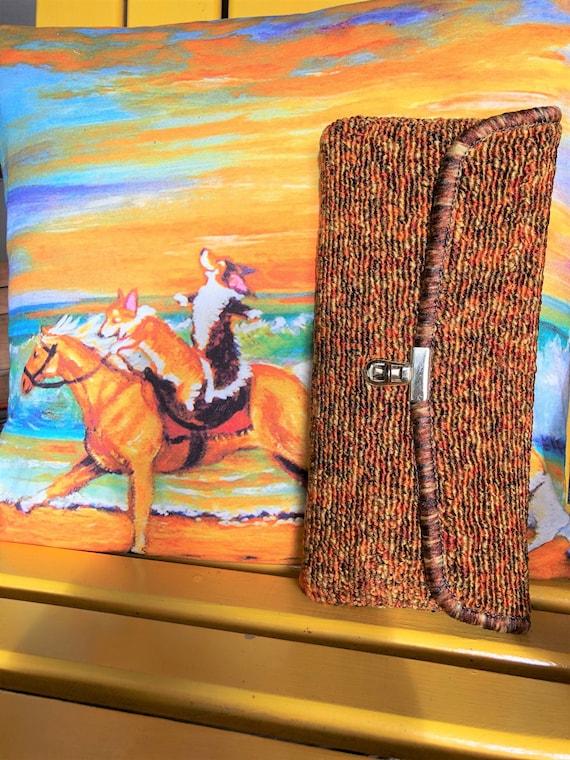 RARE Carpet Bag Inc Clutch/Carpet Bag Handbags/Car
