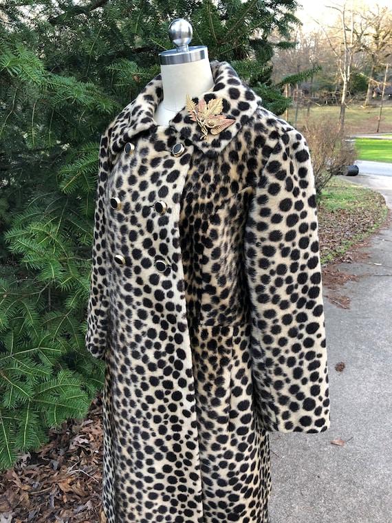 Vintage Leopard Coat/60's Leopard Coat/Faux Leopa… - image 3