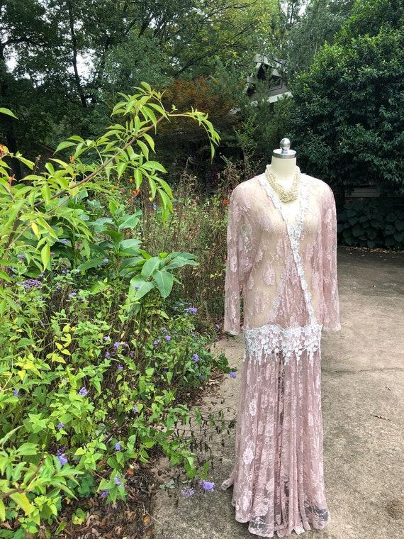 JESSICA MCCLINTOCK Pink Lace Dress/Jessica Mcclin… - image 7