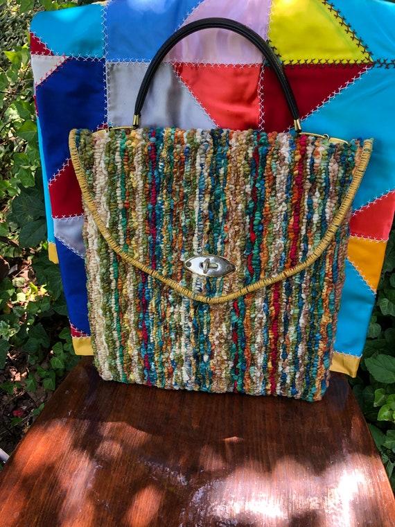 Jerry Terrence CARPET BAG Purses/Vintage Carpet B… - image 1