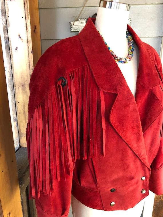 Western Fringe Jackets/80's Suede Jackets/80's Fri