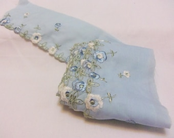 Light blue embroidered Trim