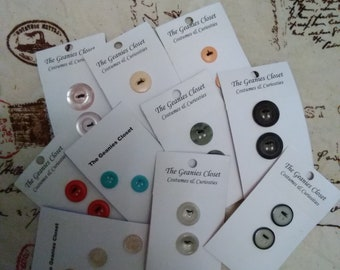 22 Vintage Reclaimed Buttons