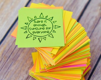 Rays of Kindness Inspirational Messages - Ink Friendly - Intentional Act of Kindness - Lunch Box Notes - Kindness Cards - DIY Printable
