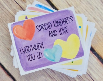Printable Kindness Cards Set 1 - Lunch Box Notes and Kindness Cards for Spreading Kindness