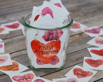 Heart Affirmation Cards: Printable Inspirational and Encouragement Cards for Sharing Kindness and Compliments