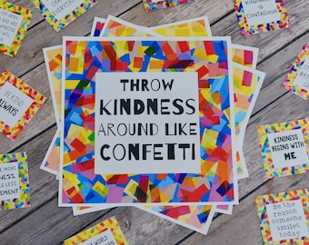 Printable Kindness Posters and Cards - Digital Prints - Inspirational Quote Cards and Wall Prints
