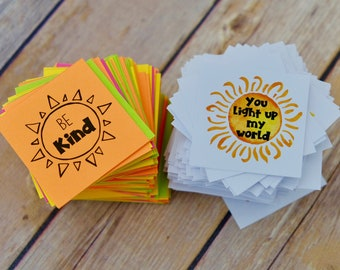 Rays of Kindness BUNDLE of Inspirational Messages - Intentional Act of Kindness - Lunch Box Notes - Kindness Cards - DIY Printable