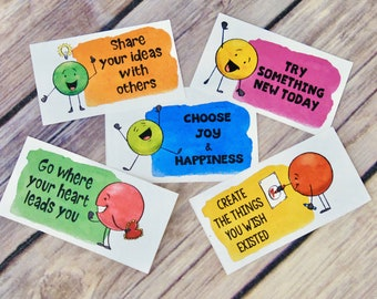 Kindness Dots Notes and Cards Lunch Box Notes and Inspirational Messages - Set 1 - DIY Printable