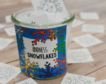 Printable Kindness Snowflake Cards - Create a Blizzard of Kindness with Encouragement Cards that are also great for Lunch Box Notes