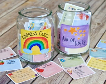 Printable Kindness Notes and Write-in Lunch Box Notes: 120 cards in this 2 set Bundle