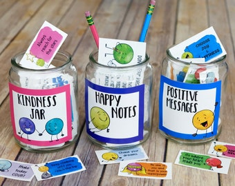 Kindness Dots Notes and Cards 3 Set BUNDLE of Kindness - Printable Lunch Box Notes Inspiration, Motivation Cards and Compliment Cards