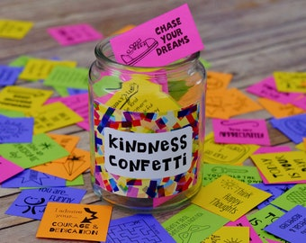 Kindness Confetti® Inspirational Cards Set 1 - Kindness Cards - Spread Kindness - Be Kind Printable Cards  - Acts of Kindness