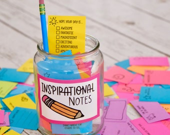 Kindness Cards - Confetti Notes - Tiny Write in Notes to spread inspiration