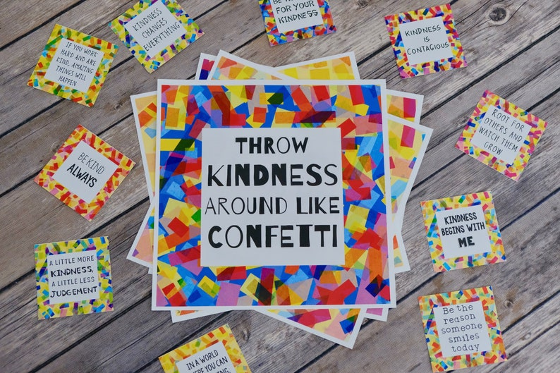 Printable Kindness Posters and Cards  Digital Prints  image 0