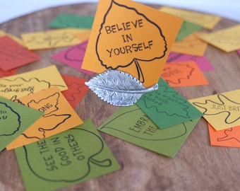 Kindness Leaves: Gratitude, Positivity and Inspirational Message Cards