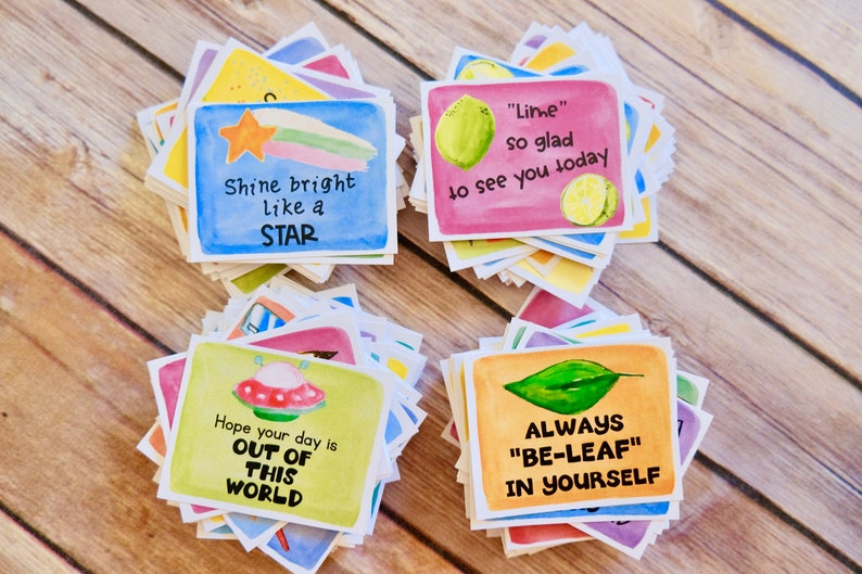 Printable Kindness Cards and Lunch Box Notes 4 Set BUNDLE: for image 0