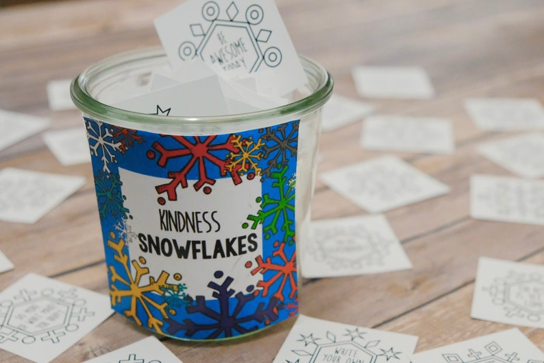 Printable Kindness Snowflake Cards  Create a Blizzard of image 0