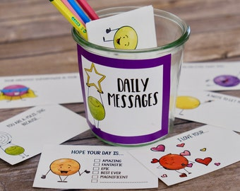Kindness Cards and Notes Set 3 - Kindness Dots Lunch Box Notes and Inspirational Messages - DIY Printable