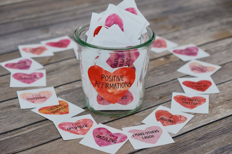 Heart Affirmation Cards: Printable Inspirational and image 0