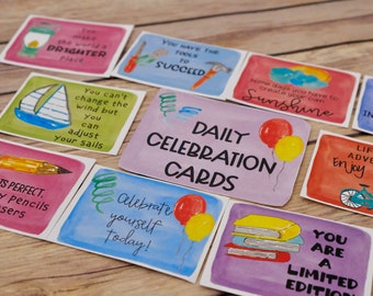 Printable Kindness Cards Set 3: Inspirational Messages for spreading Kindness and Positivity