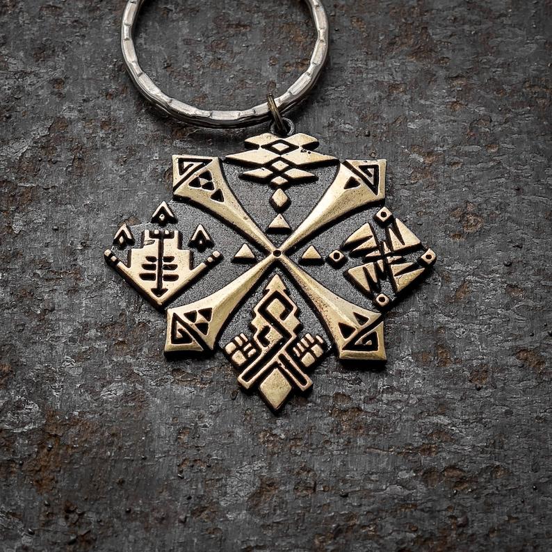 Hunter's Guild brass keychain, Monster Hunter World MHW