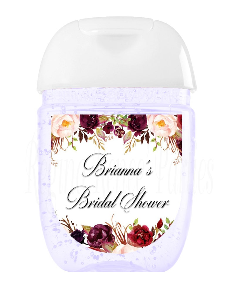 Floral Bridal Shower Hand Sanitizer Floral Party Favor Floral Birthday Party Floral Party Gifts Floral Mini Hand Sanitizer Labels