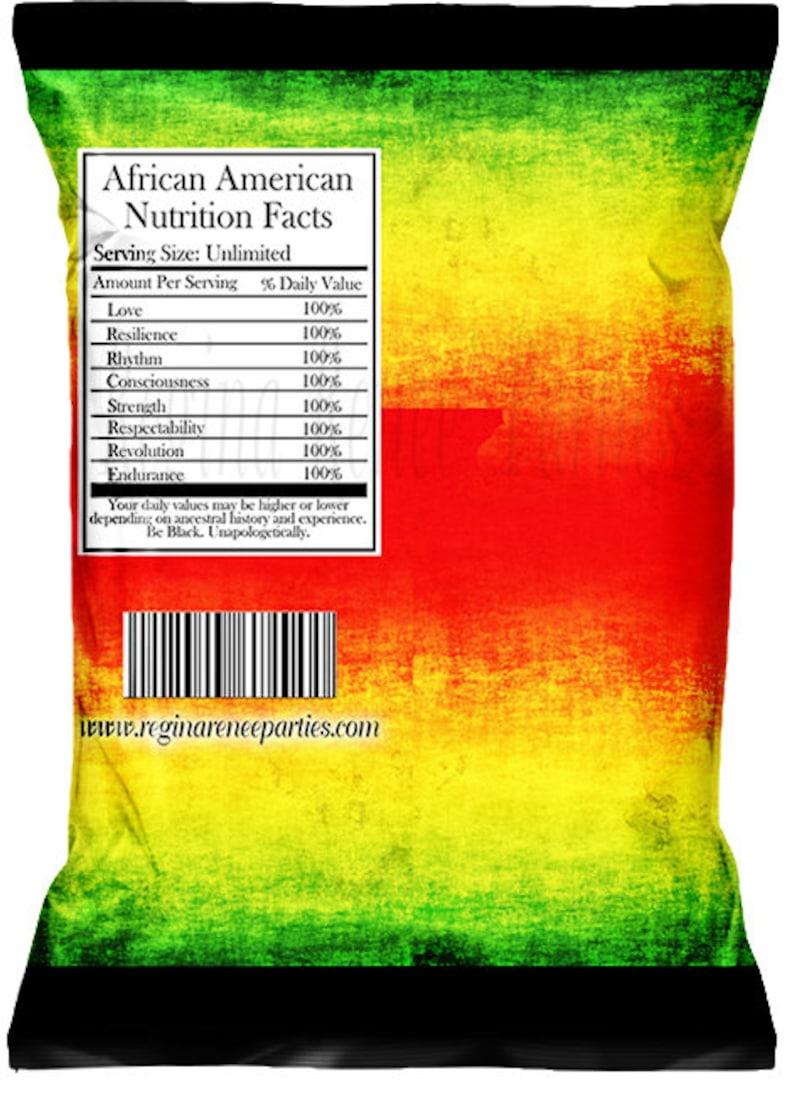 Custom Chip Bags Digital Black Men Black History Month Black Women Black lives Matter Movement Black Lives Matter Chip Bags