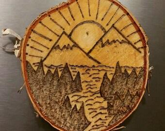 Handmade Wood Burned Magnets