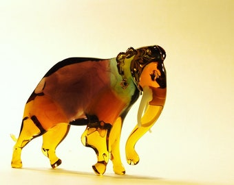 decorative figurine of colored glass, Elephant Ivan Andreevich