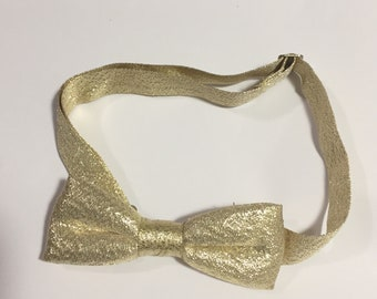 Gold Lame Bow Tie