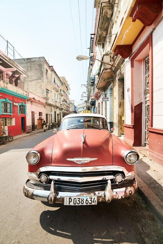 Car Photos Cuban Car Vintage American Car Nursery Decor Etsy